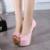 Nuevos Zapatos de Las Mujeres Atractivas de La Manera Plataforma 16 CM de Tacón Alto Del Partido Negro Vestido de Diseñador de la Marca Zapatos de Las Bombas 3 colores size35-40