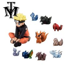 Anime toy Naruto Shippuden Kurama Uzumaki NINJA PVC model figurine juguetes 10pcs/set Action Figures kyuubi doll brinquedos gift(China)