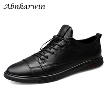 Мужские кожаные кроссовки, белые черные повседневные туфли на плоской подошве, мужские топсайдеры, мужская обувь, повседневная кожаная обувь, большие размеры 46 47