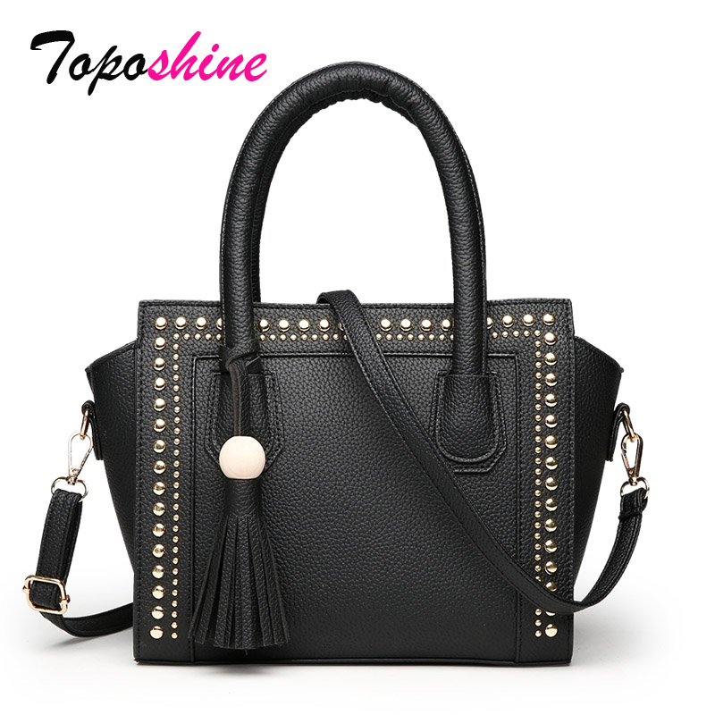 Ladies Handbag Messenger-Bag Retro Personality Fashion Casual Rivet Temperament Simple