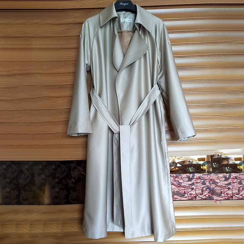 Women Long   Trench   Loose Coat Luxury Turn-down Collar Belt Outerwear Female Solid Autumn 2019 New Elegant Clothing Big Size 4XL