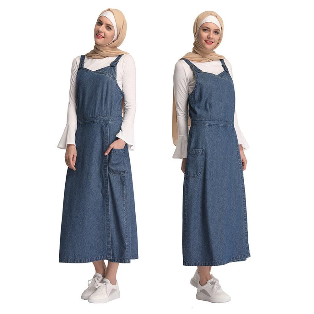 Amichevole Vendita Calda Dubai Delle Donne Musulmano Maxi Vestiti Della Maglia Dei Jeans Di Modo Di Abaya Islamico Arabo Turchia Abbigliamento Per Il Partito Abito Di Grandi Dimensioni S-xxl Prezzo Più Conveniente Dal Nostro Sito