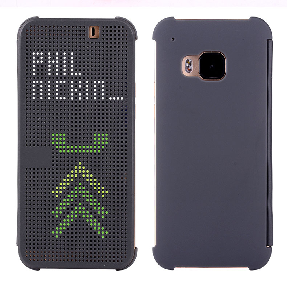 M9 Plus Soft Silicone Flip Leather Cover Shockproof Case For HTC ONE M9 Plus + M9+ Slim Dot Smart Auto Sleep Wake View Shell Bag