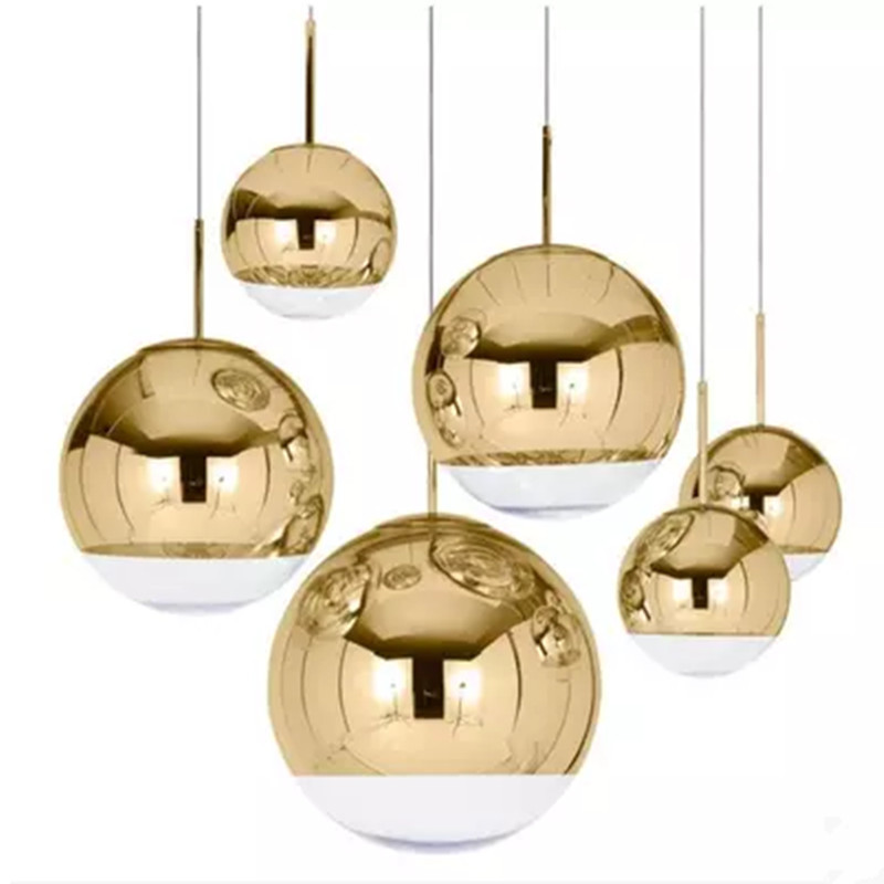 ball single head droplight contracted and contemporary dining room lamp cafe bar counter glass ball pendant lamp|Pendant Lights| |  - title=
