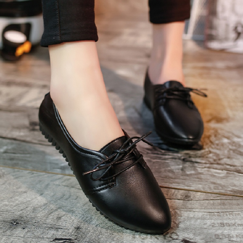 2016 Newest Style Fashion Women Flat Shoes White Amp Black