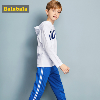 Balabala tracksuit for boys hooded coat spring boys clothes fashion children clothing set Teens sports Long Sleeve Sets For Boys 4