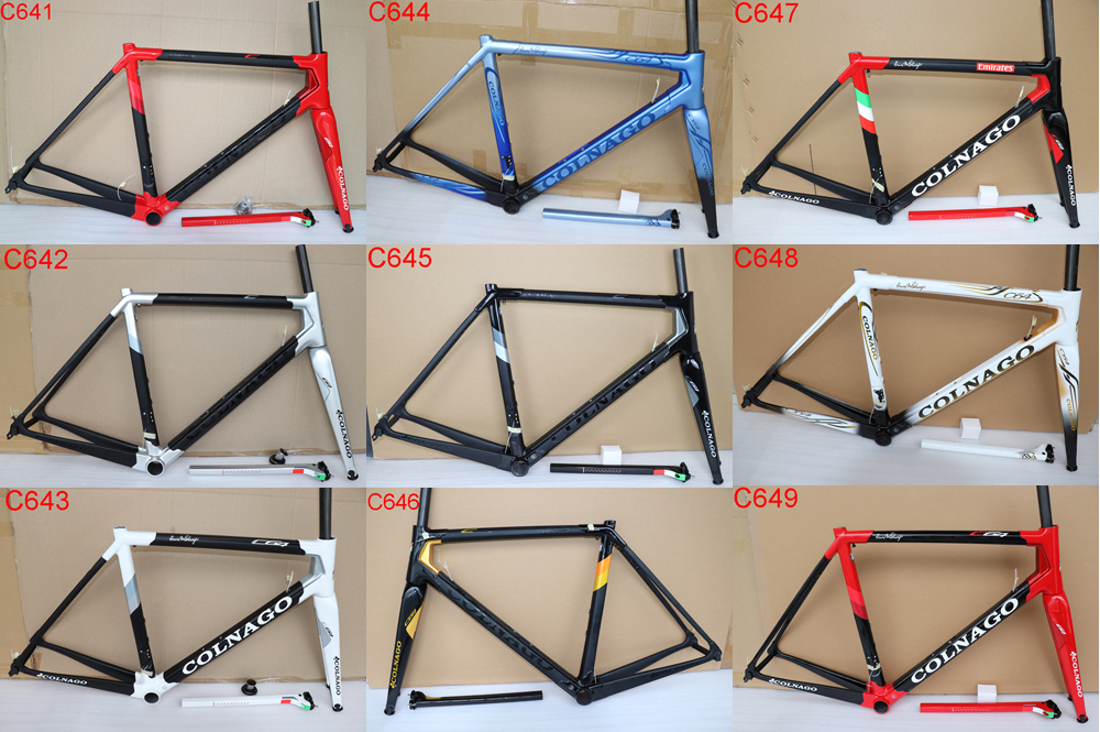 Bicycle Frames Headset Seatpost Road-Bike Colnago C64 T1100 Fork Racing UD Carbon 9-Colors