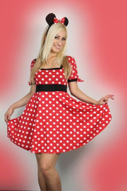 46de43498 Womens Adult Minnie Mouse Fancy Dress Costume outfit Halloween cosplay
