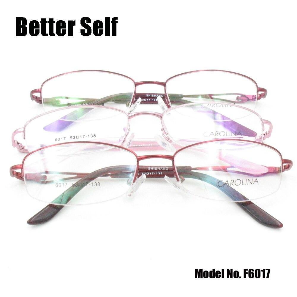 Besser Selbst F6017 Halbrand Brillen Metall Brillen Dicken Gold ...