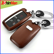 цена на ShinMan 2018 6colors Car leather key cover For Land Rover Evoque 4 Discovery  Range Rover Sport 4 Freelander 2 Key Case shell