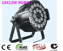 2pcs 24x12W LED Par Lights rgbw 4in1 led par light DMX 512 control Professional stage lighting equipment cheap Stage Lighting Effect 24X-12 90-240V Professional Stage DJ DMX Stage Light BAILIANGLIGHTS RGBW 4 in 1 Quad 24pcs x12W