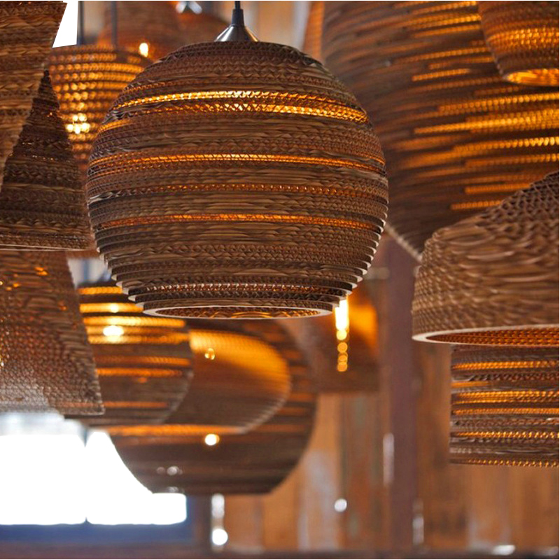 New Creative Vintage Pendant Lights E27 Base For Bedroom Bar Art Deco Home Lighting Southeast Asian Style Led Hanging Lamp