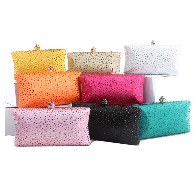 Summer Bags for Women 2019 Wedding Green Clutch Purses and Handbags with Rhinestone Gold Shoulder Bag Ladies Evening Clutch Bag