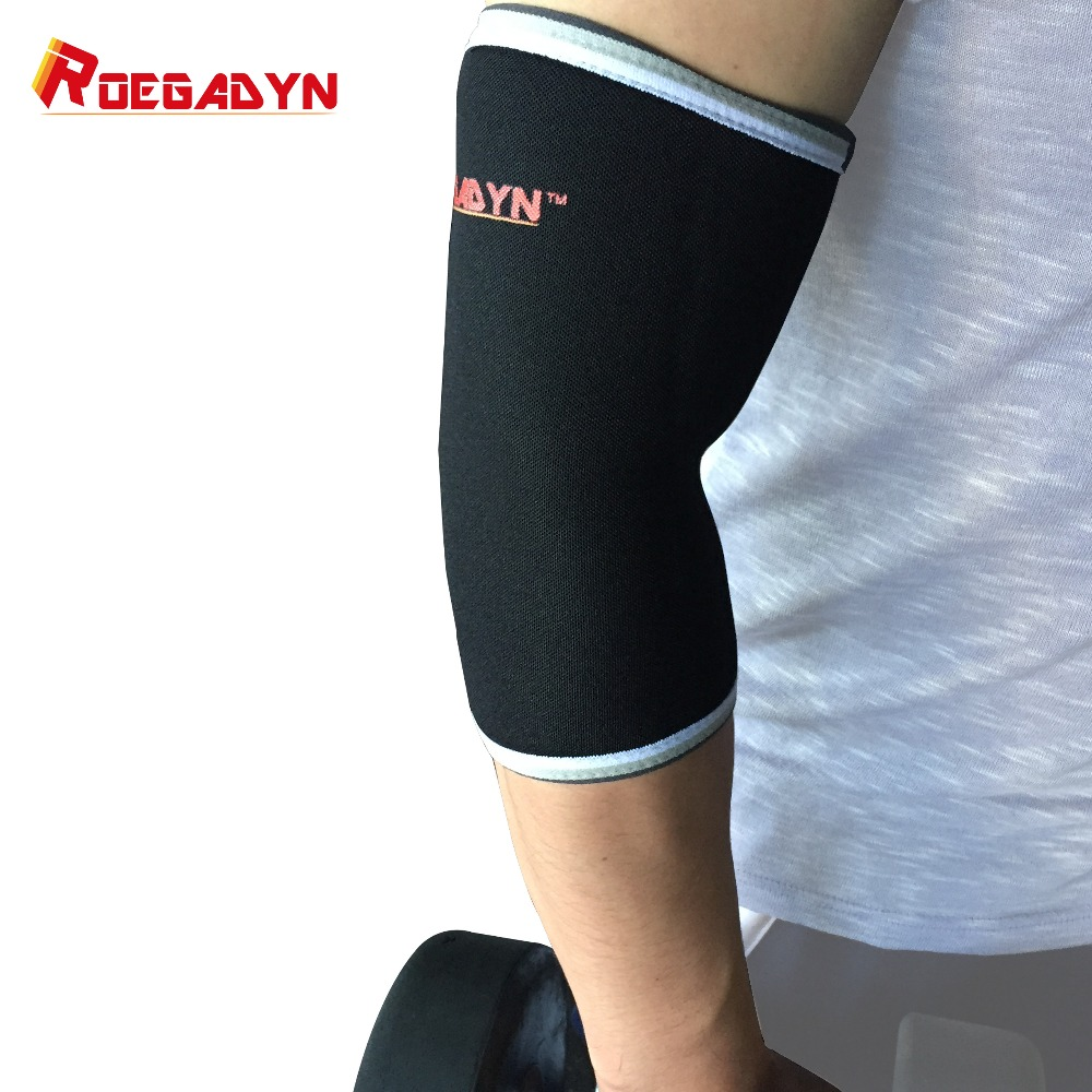 ROEGADYN Professional Quality 7mm Neoprene Elbow Sleeves For CorssFit Support,Compression Brace for Ultra Heavy Powerlifting цена