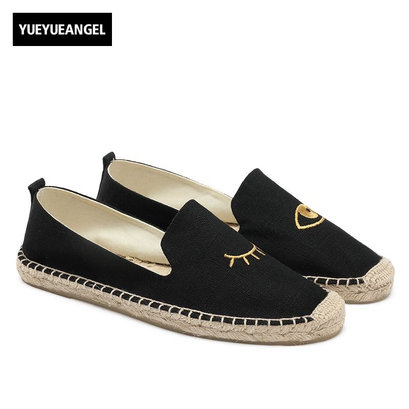 Hot Sale Women Flats Shoes Slip On For Women Casual Canvas Shoes Autumn Femme Comfortable Breathable Driving Loafers Beige Black