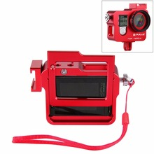 New arrival Action camera Accessories Aluminum alloy protective cage Frame case with lens cover+UV 37mm Filter for Gopro Hero 4