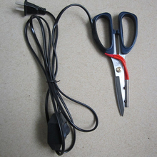 1 adet elektrikli ısıtma terzi makas güç sıcak makası bıçak ısıtmalı kalem çalışma göstergesi kumaş kesme için