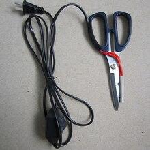 1pc podgrzewany elektrycznie krawiectwo nożyce moc gorące nożyce nóż podgrzewany wskaźnik pracy pióra na cięcie tkaniny