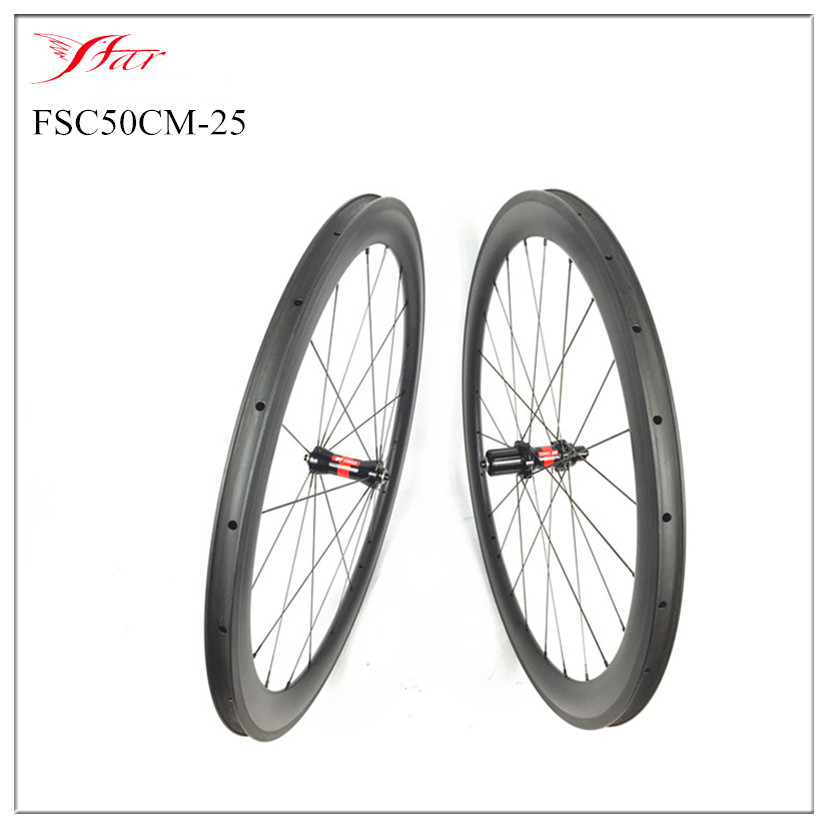 цены  High End !! Farsports 50mm carbon bicycle wheels 20.5mm 23mm 25mm width carbon road bike wheelset with DT hubs and Sapim spokes