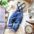 Infantil moda los pantalones del bebé primavera y otoño desmontable correas vaqueros