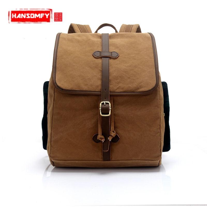 Nouvelle toile hommes sacs à dos marée solide couleur sac à bandoulière étudiant sac hommes et femmes voyage sac à dos en gros loisirs sacs pour ordinateur portable