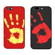 Shell Temperature,Sensing Change Color Phone Cover Case For iPhone 5 6 7 Plus PC chameleon Variations case Hard Matte Sensor