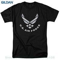 Gildan الرجال تي شيرت الجدة س الرقبة قمم الامريكية طائرة ملصقات شعار تي شيرت و حصرية