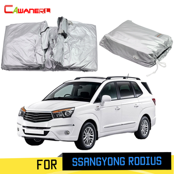 Cawanerl Full Car Cover Outdoor Sun Shade Rain Snow Scratch Protection Cover For SsangYong Rodius Stavic 2004-2019