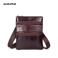 Brand leather bag and retro men trade Shoulder Bag Messenger Bag head layer cowhide male package