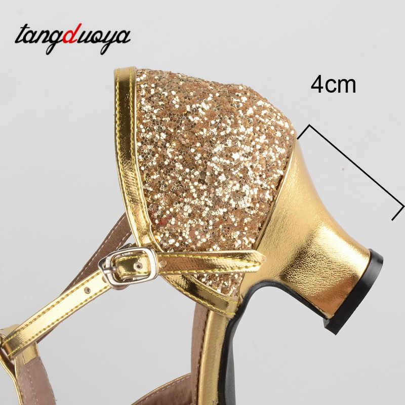 Latin Dance Schoenen Vrouw Goud Zilveren Schoenen Vrouwen Hoge Hak Ballroom Jazz Dansen Schoenen Voor Vrouwen Zapatos De Baile Latino mujer