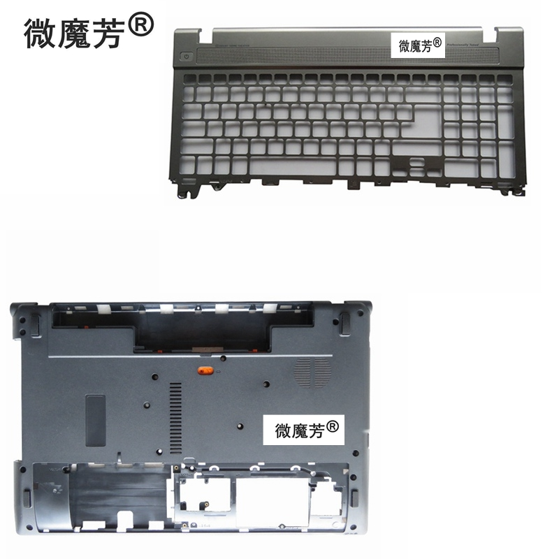 NEW Laptop Bottom Base Case Cover Door&Palmrest keyboard for Acer for Aspire V3 V3-551G V3-571G V3-571 Q5WV1 V3-531 V3-551G new for acer aspire v3 v3 531 v3 551 v3 571 v3 531g v3 551g v3 571g lcd top cover case lcd bezel cover hinges
