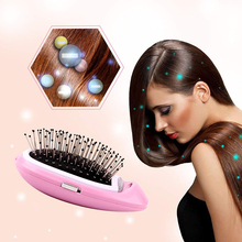Portable Electric Ionic Hairbrush Negative Ions Hair Comb Brush Modeling Styling