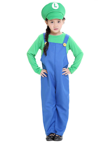 Kids Mario And Luigi Costumes Super Mario Bros/Brothers Halloween Costume