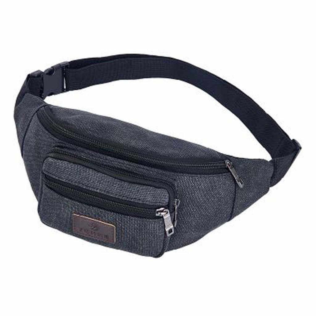 Male Men Waist Bag Pack Casual Functional Money Phone Belt Bag Casual Pocket Outdoor Sports Bag Unisex Messenger Bag #GEX