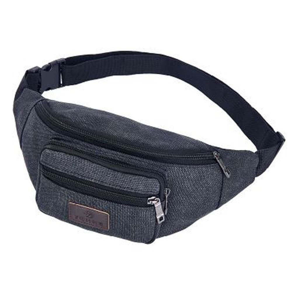 Male Men Waist Bag Pack Casual Functional Money Phone Belt Bag Casual Pocket Outdoor Sports Bag Unisex Messenger Bag #GEX
