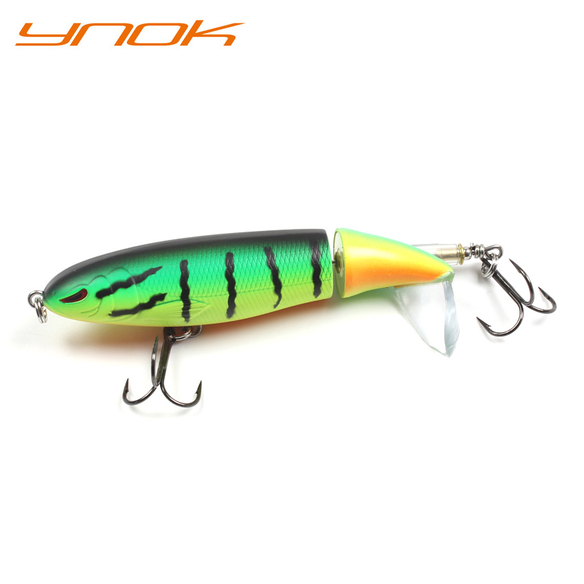 90mm 13g Rotate Fishing Lures Propeller Floating Pencil Bait with VMC Hooks Trout Bass Fishing Tackle in Fishing Lures from Sports Entertainment