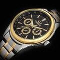 2016 Chenxi Relojes Hombres Lujo de la Marca de Moda Ocasionales de Los Deportes de Los Hombres de Cuarzo Reloj de Oro Completa Inoxidable Reloj de Los Hombres Reloj de Pulsera