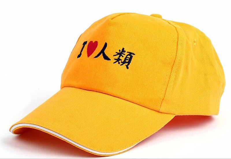 No Game No Life Anime l love human Colorful Printing With Cap Adjustable Outdoor Hat For Men or Women