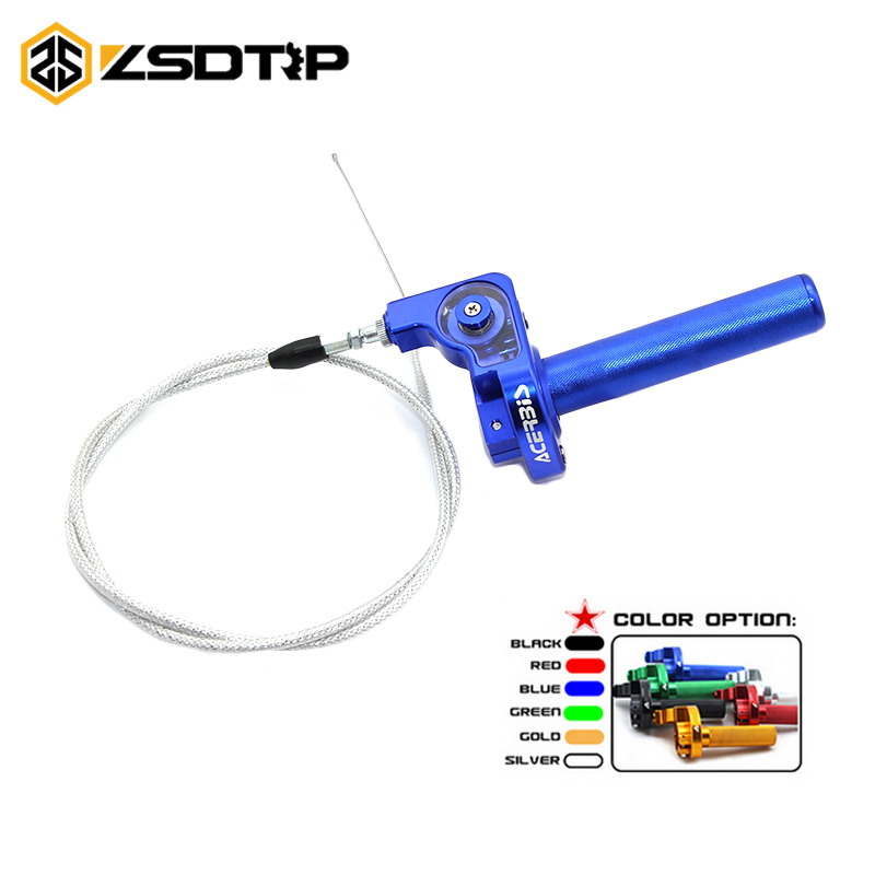 22mm 6 colors Throttle turn Grip Quick Twister with cable set universal for all brand motorcycle 22mm handbar modify