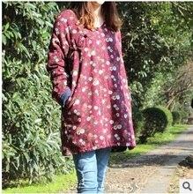 Запуск нового продукта осенью и зимой, 2016, оригинальный дизайн 100% хлопок белье хлопок-мягкие одежды свободные большие ярдов женщин