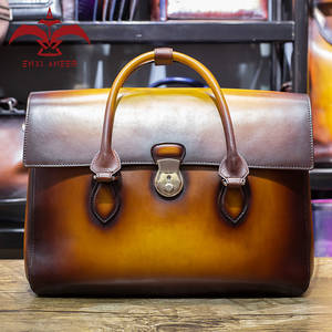 d06addd70c ENXI ANEER Yes My Genuine Leather Briefcase Men Tote Bag