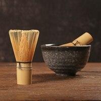 Japanischen Zeremonie Bambus Matcha Schneebesen Grün Tee Pulver Chasen Grinder Pinsel 80/100 Kaffee Grün Tee Pinsel Matcha Tee Werkzeug Halter-in Teepinsel aus Heim und Garten bei