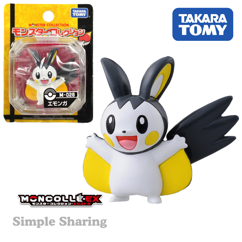 japan-takara-tomy-font-b-pokemon-b-font-monster-collection-15-figure-tomy-pocket-monster-m-028-moncolle-emonga(some-packaging-is-damaged