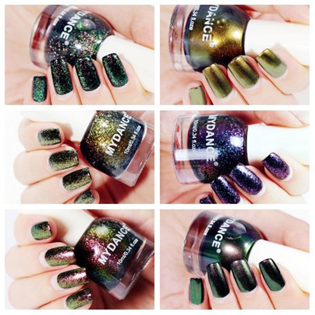 Galaxy Gel Nail Polish 73: 22 Colors MYDANCE Chameleon Nail Polish Gold Violet Galaxy