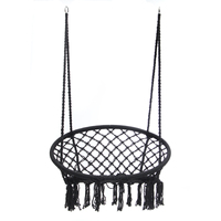 Nordic Style Mesh Hammock Outdoor Indoor Dormitory Bedroom Hammock Chair For Child Adult Single Safety Swinging Hanging