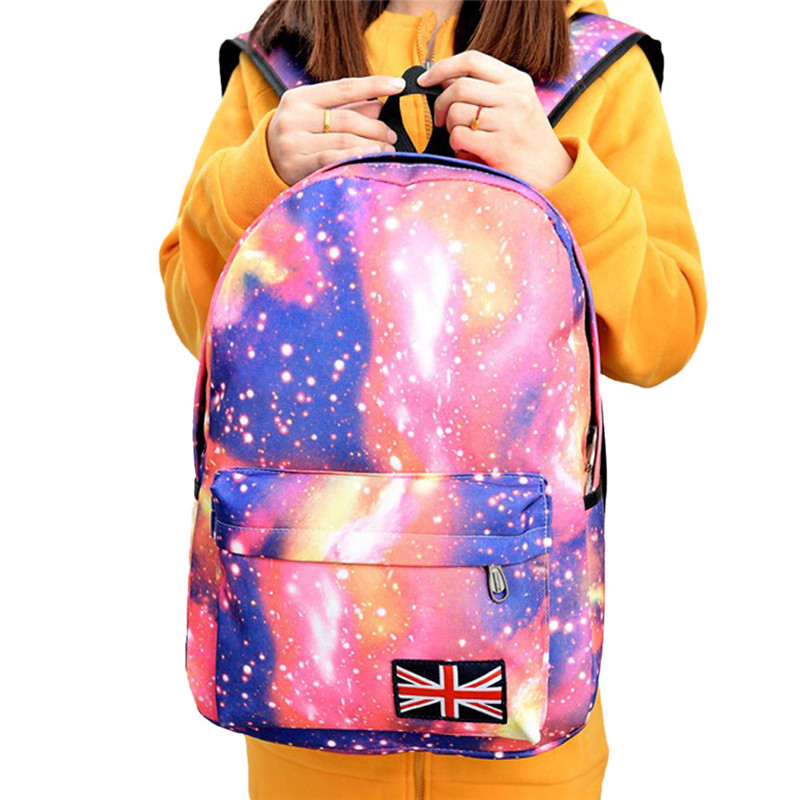 e9c08154a8 Unisex Backpack female Fashion Galaxy Pattern School Bag Boy Girls Travel  Rucksack Canvas schoolbag backpack mochila feminina-in Backpacks from  Luggage ...
