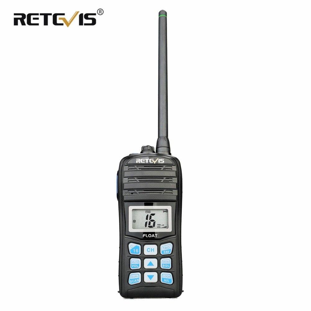 RETEVIS RT55 De Poche VHF Marine Radio IP67 Étanche Deux Way Radio Flotteur NOAA Alerte Météo 5 W Professionnel Marine Radio VHF