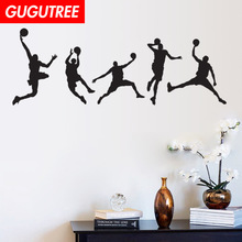 Decorate 44x105cm basketball art wall sticker decoration Decals mural painting Removable Decor Wallpaper LF-142