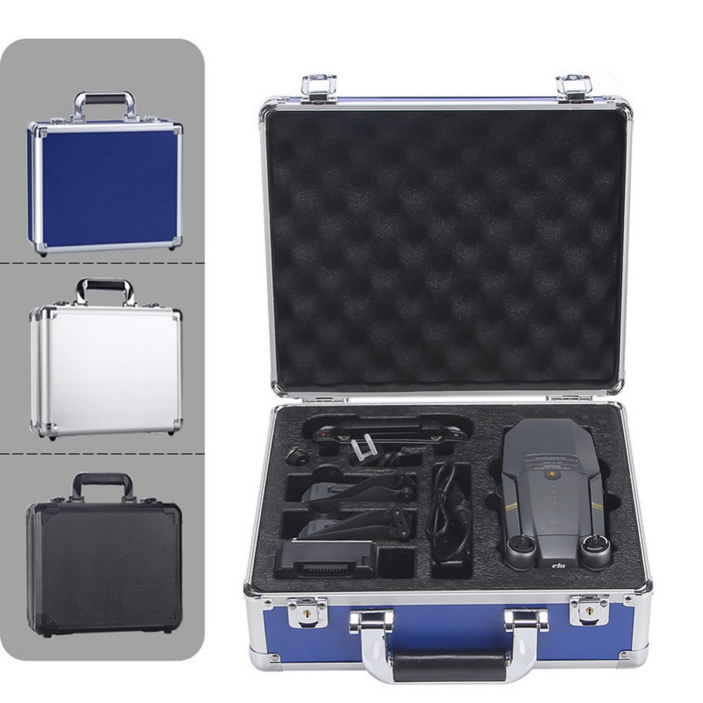 New Tool Case For DJI Mavic Pro Drone Bag Aluminum Plate Hardshell Waterproof Suitcase Standard Storage Box For RC Quadcopter
