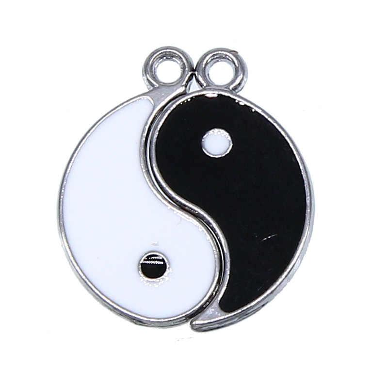 Più styleCouple Gioielli Personalizzati Yin Yang Pendente Della Collana Best Amico Del Braccialetto della collana accessori per Gli Amici I Regali